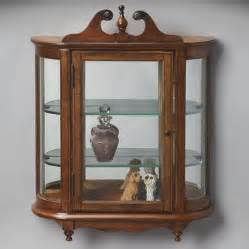 Wall Curio Cabinet Target Butler Masterpiece Wall Mounted Curio Cabinet Reviews