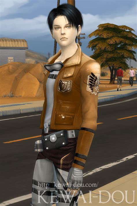 attack on titan sims 3 hair levi sims 4 ver kewai dou