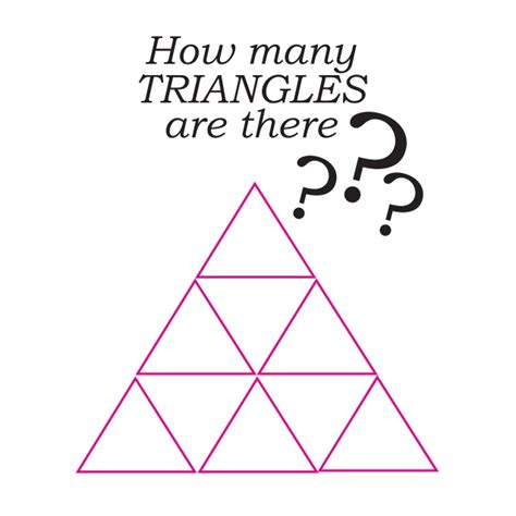 how many are there how many triangles can you find