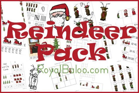printable reindeer glyph reindeer pack royal baloo