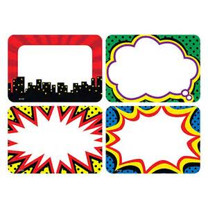 superhero labels variety pack by teacher created resources