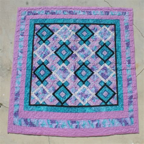 Teal Quilts by Pink Teal Purple Quilt 187 Custom Made Quilts 187 Hawaiian