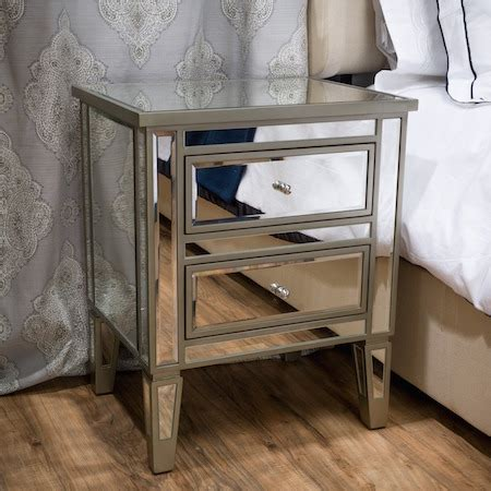 Pottery Barn Mirrored Nightstand by Mirrored Nightstand Look 4 Less And Steals And Deals