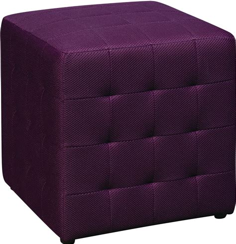 ottoman purple detour 15 quot fabric ottoman purple mesh from the benches