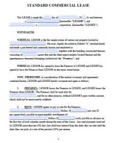 lease agreement template pdf free missouri commercial lease agreement pdf template