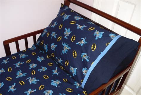 batman toddler bed set batman baby toddler fitted sheet and standard pillowcase