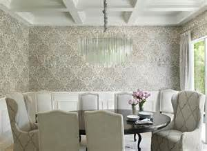 Dining room with gold feathers chandelier contemporary dining room
