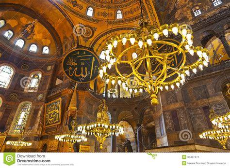 Mosaic Interiors by Mosaic Interior In Hagia At Istanbul Turkey Stock