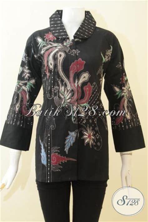 desain baju batik hitam batik blus elegan warna hitam baju batik wanita motif
