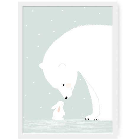 affiche chambre bebe affiche ours polaire z 252