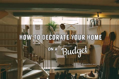 How To Decorate Your Home On A Budget | cheap home improvement ideas how to decorate your home on