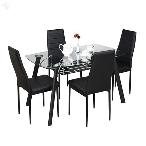 Dining Table For 4 by Royal Oak Milan Four Seater Dining Table Set Black