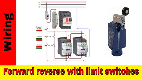 reverse motor control wiring  limit switches