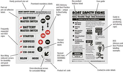 boat safety products rm marine boat safety signs product information