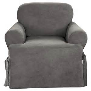 sure fit grey slipcover sure fit t chair slipcover grey target
