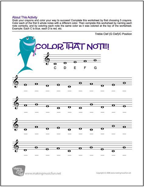 quiz theme with 9 hands color that note free note name worksheet treble clef