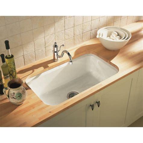 cast iron undermount sink cast iron undermount kitchen sinks single bowl kohler