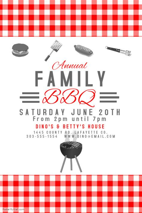 bbq template card bbq template postermywall