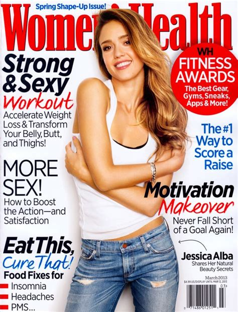 women magazine jessica alba covers women s health magazine march