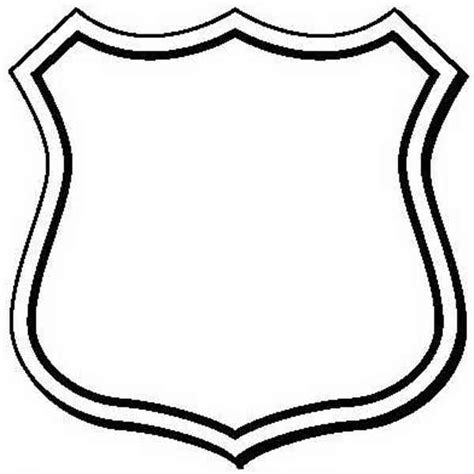 blank police badge clipart best