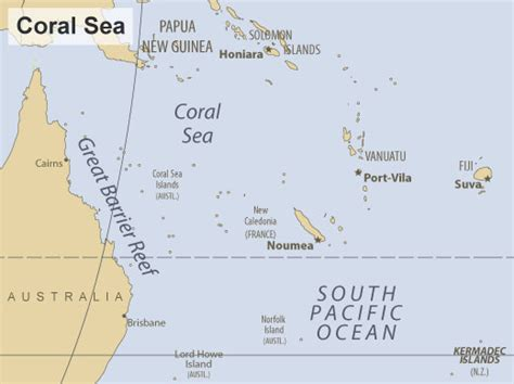 coral sea map american history part 2 america a world leader
