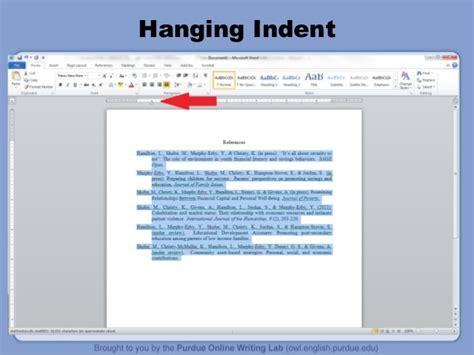 apa format hanging indent apa tutorial