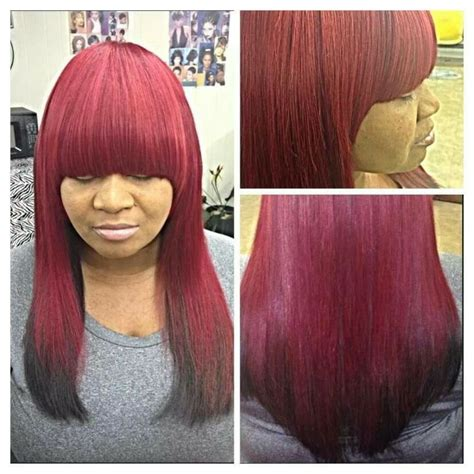 red sew in hairstyles red ombre full sew in hairstyles pinterest ombre