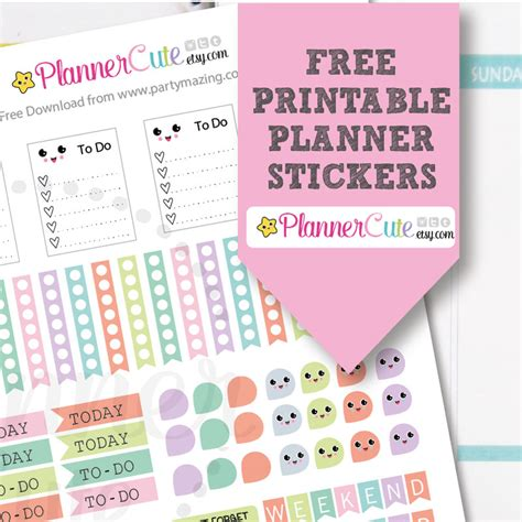 etsy free printable planner printable kawaii planner stickers w014 partymazing