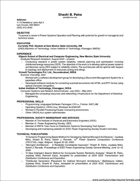 experienced resume format template 16 free word pdf format