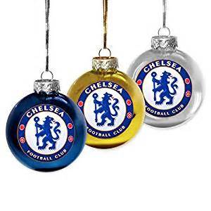 amazon com official chelsea fc christmas holiday baubles