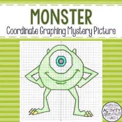 monster coordinate plane graphing ordered pairs mystery