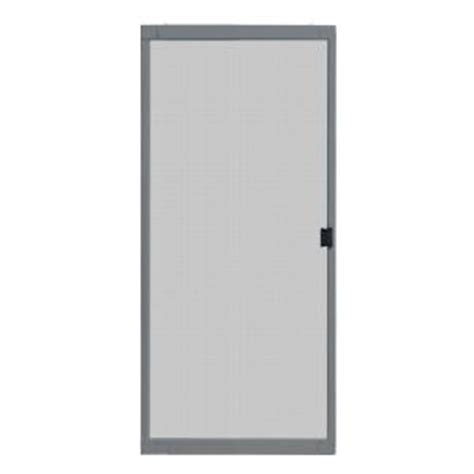 Sliding Patio Screen Doors Home Depot by Unique Home Designs 36 In X 80 In Standard Grey Metal