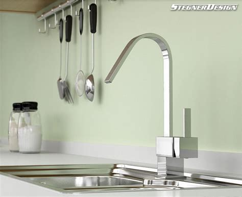 single handle chrome kitchen faucet modern kitchen