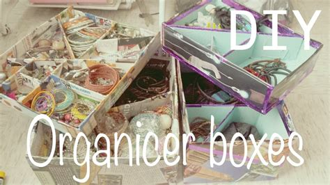 make your own organizer boxes make up jewelry organizer youtube