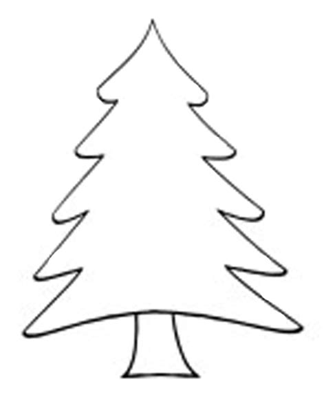 christmas tree clipart coloring page christmas tree outlines cliparts co