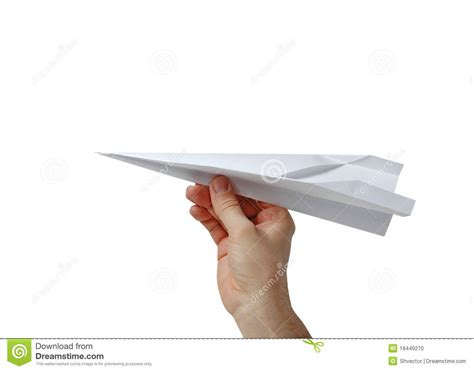 How To Make Paper Holding - holding a paper plane stock photo image 18449270