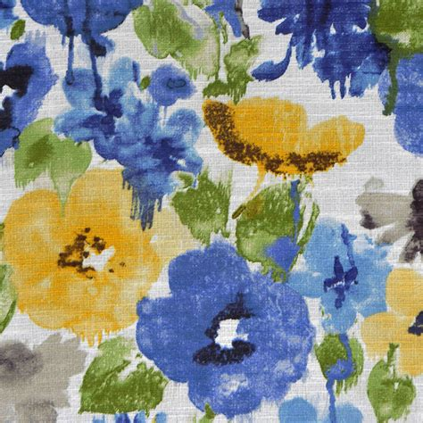 watercolor upholstery fabric royal blue watercolor floral upholstery fabric green yellow