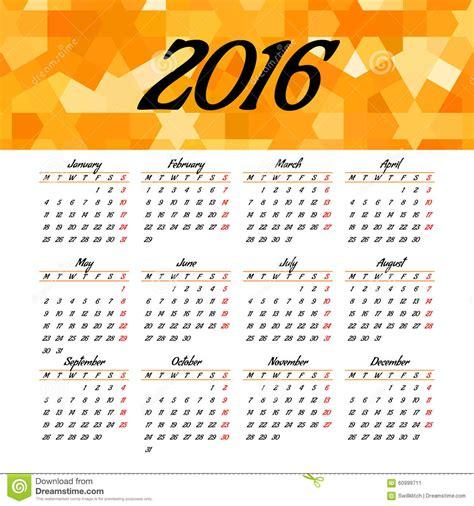 home design editorial calendar 2016 calendar 2016 template design stock vector image 60999711