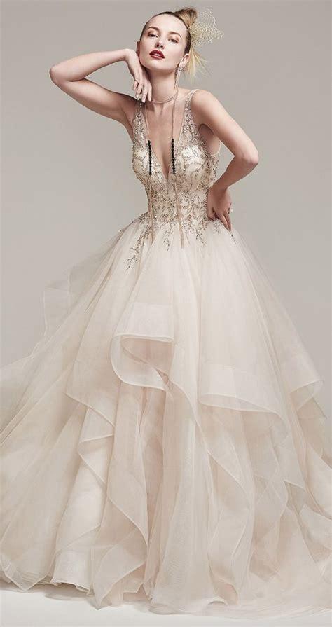 beaded bodice tulle skirt wedding dress unique beaded bodice ruffled tulle ballgown skirt wedding