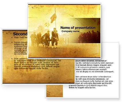 civil war powerpoint template american civil war powerpoint template poweredtemplate
