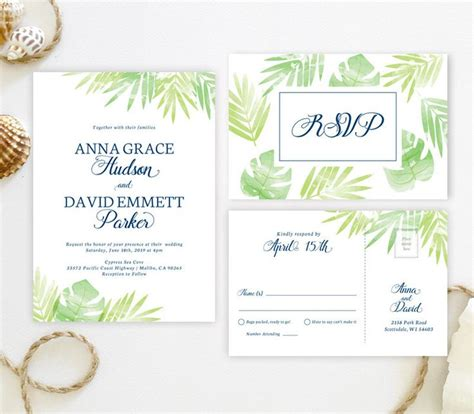 tropical wedding invitation sets 150 best images about wedding invitations on