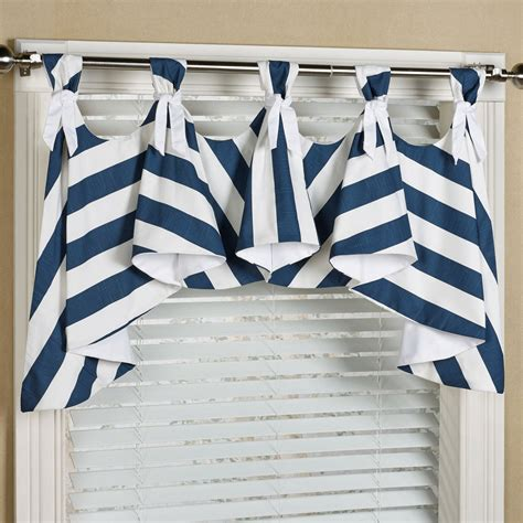 Nautical Window Valance seaboard stripe nautical austrian window valance