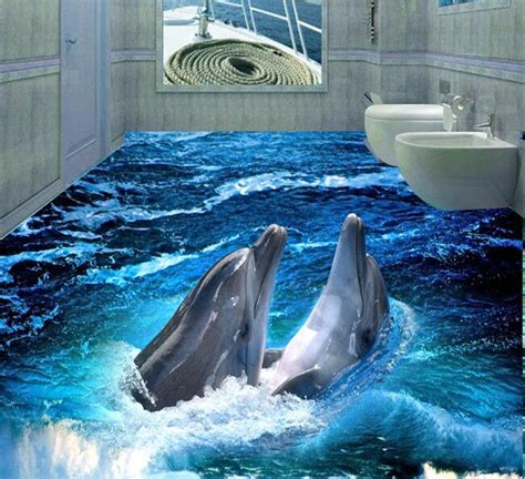 Dolphin Wallpaper For Bathroom by Online Buy Wholesale Dolphin Wall Paper From China Dolphin