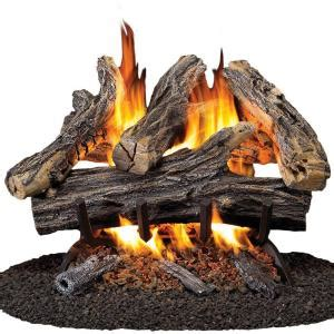 procom 18 in vented gas fireplace log set wan18n