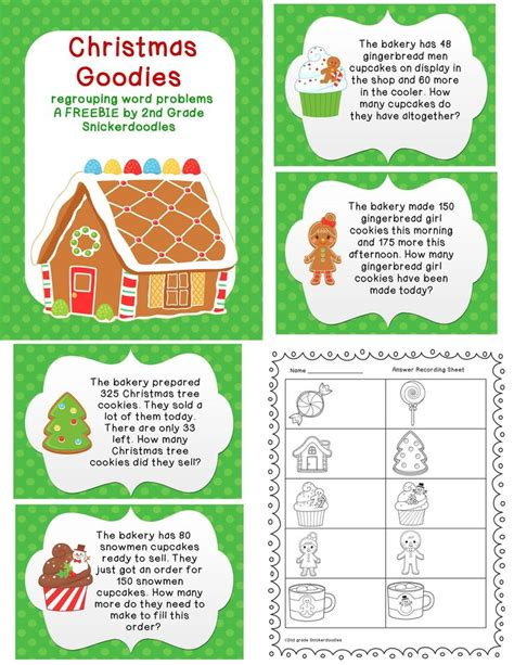 1000 images about christmas math 2nd grade on pinterest