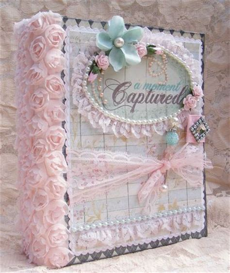 elite4u shabby chic style scrapbooking album flowers lace paper pieci