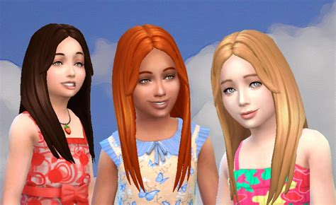sims 4 children hair my stuff single hair for girls