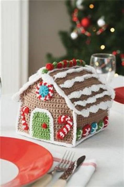 free crochet pattern gingerbread house 33 cute knitted christmas decorations for your home