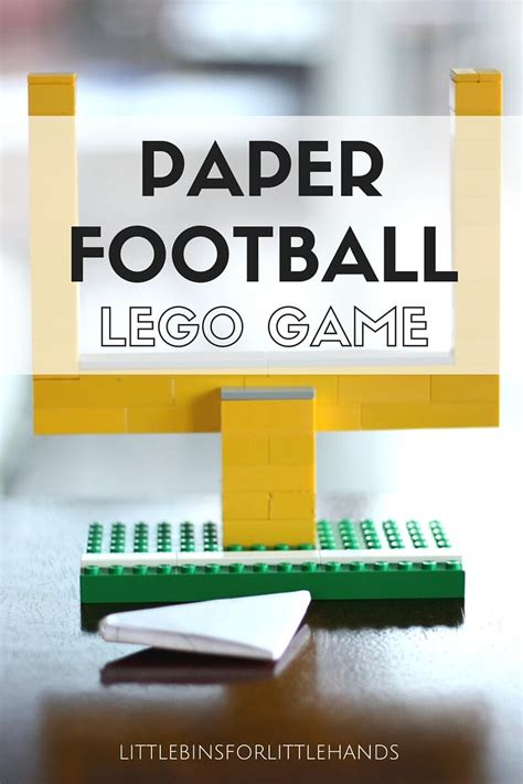 How To Make A Paper Football Goal - paper football with lego goal posts screen free