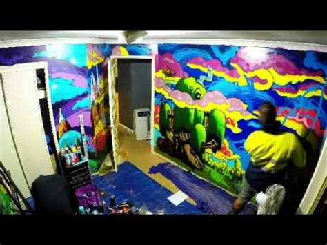 painting my bedroom wall youtube spray paint bedroom mural theme adventure time youtube